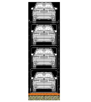 Quad Car Stacker Icon