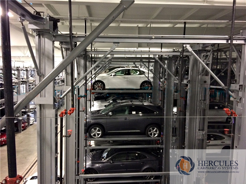 Stacker for four cars