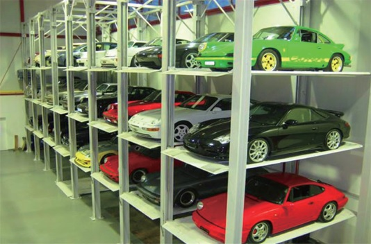 Park four cars stacker